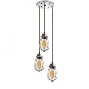 Kopenhagen Lampa wisząca – industrialny – kolor srebrny