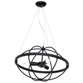 Kopernik  Lampa wisząca – industrialny – kolor Czarny