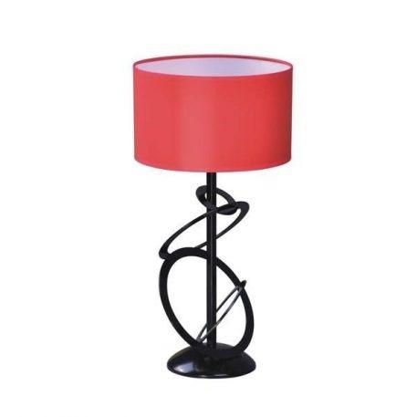 Korfu Lampa nowoczesna – Z abażurem – kolor Czarny, Czerwony