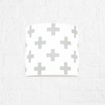 Krzyżyki Lampa nowoczesna – Z abażurem – kolor biały, Szary