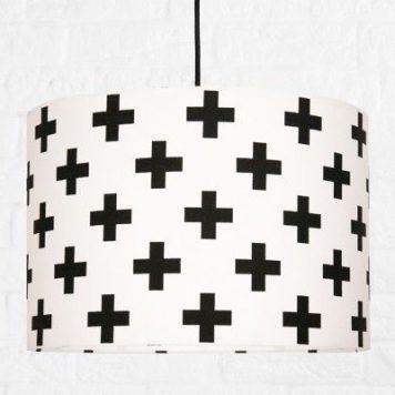 Krzyżyki  Lampa wisząca – Z abażurem – kolor biały, Czarny