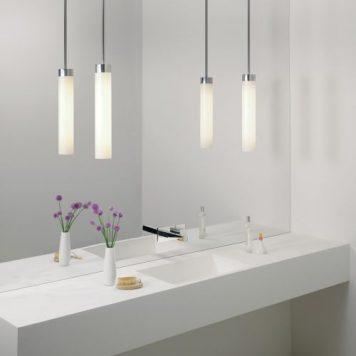Kyoto  Lampa wisząca – Styl nowoczesny – kolor biały, srebrny