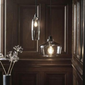 Kyoto Lampa wisząca – Styl skandynawski – kolor transparentny, Szary
