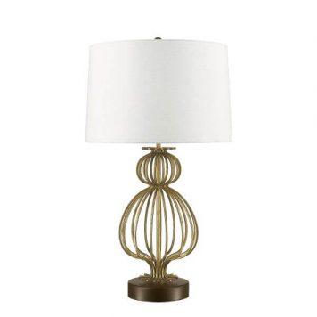 Lafitte Lampa modern classic – Z abażurem – kolor beżowy, biały, złoty