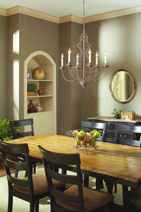 Laila  Żyrandol – Świecznikowe – kolor brązowy
