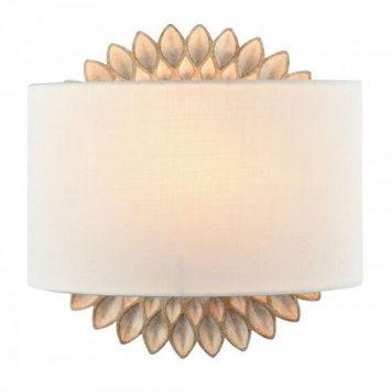 Lamar Lampa nowoczesna – Z abażurem – kolor beżowy, biały, złoty