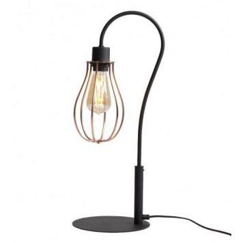 Lampa industrialna – Biurkowe – kolor miedź, Czarny