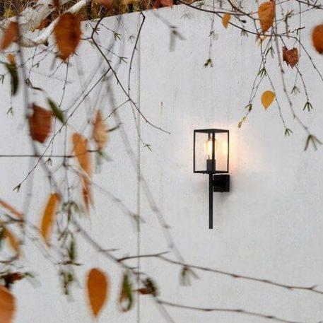Lampa industrialna - czarna tekstura, szkło - Astro