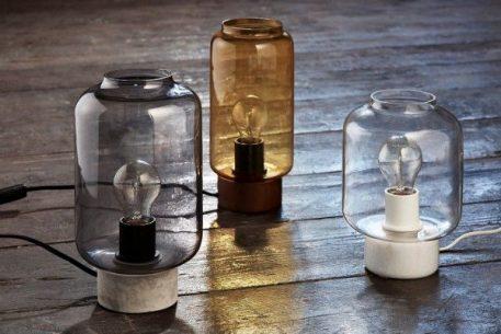 Lampa industrialna industrialny transparentny, Szary  - Salon