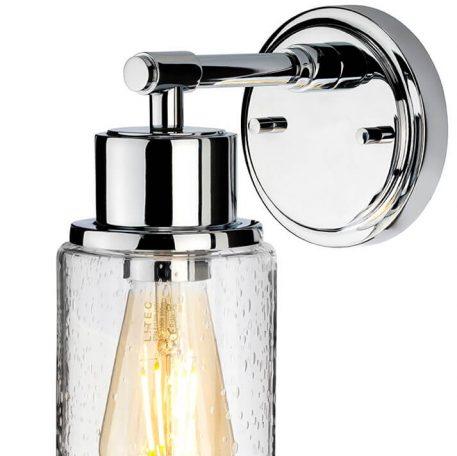 Lampa industrialna szklane srebrny, transparentny  - Łazienka
