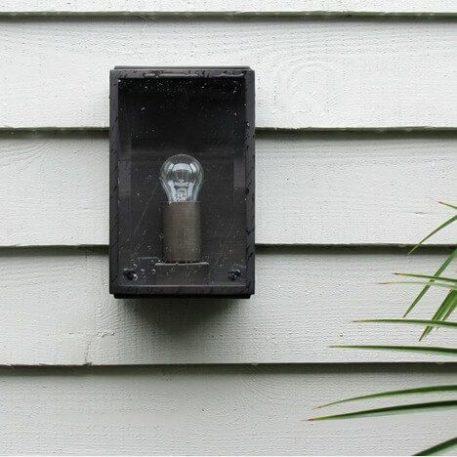 Lampa industrialna - szkło, brązowa oprawa - Astro