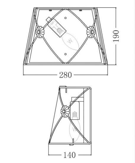 Lampa klasyczna - ARM369-01-G