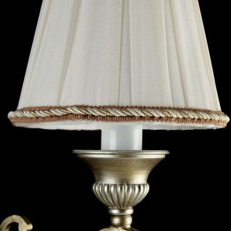 Lampa klasyczna - biała tkaniana, przecierany srebrny - Maytoni