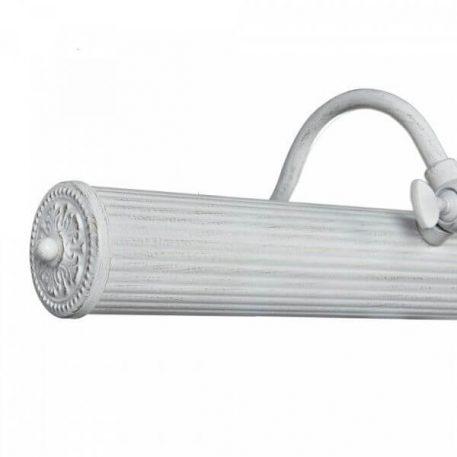 Lampa klasyczna - biały metal z przetarciami - Maytoni