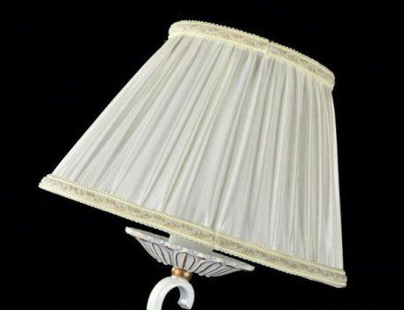 Lampa klasyczna - biały, złoty metal, organza - Maytoni
