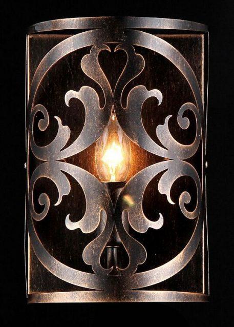 Lampa klasyczna - brązowy metal - Maytoni