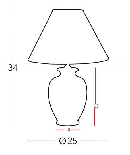 Lampa klasyczna Ceramiczne beżowy  - Salon