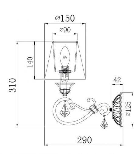 Lampa klasyczna - H258-WL-01-G