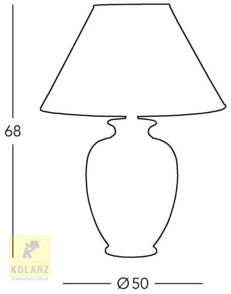 Lampa klasyczna klasyczny beżowy  - Sypialnia