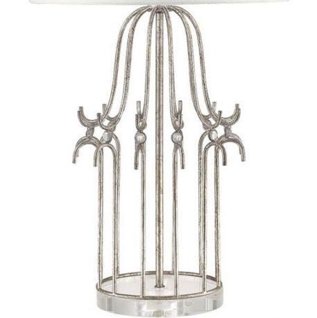Lampa klasyczna klasyczny biały, srebrny  - Sypialnia
