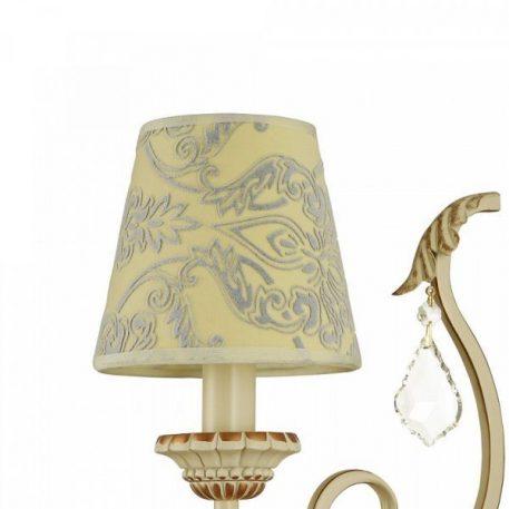 Lampa klasyczna - kremowy, złoty metal, kremowa tkanina - Maytoni
