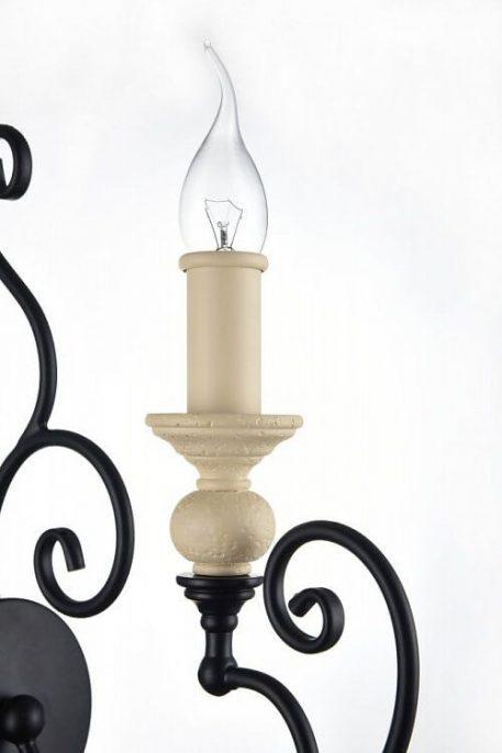 Lampa klasyczna - metal czarny i beżowy - Maytoni