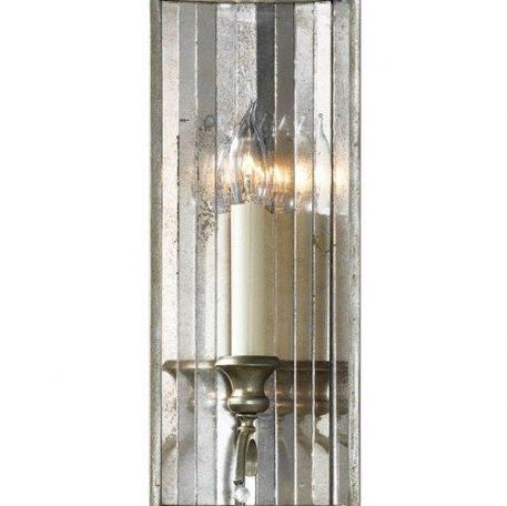 Lampa klasyczna - metal w srebrno-złotych przetarciach, szkło - Ardant Decor