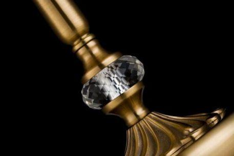 Lampa klasyczna - mosiądz, brązowa tkanina na PVC - Maytoni