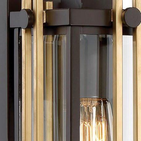 Lampa klasyczna szklane brązowy, transparentny  - Salon