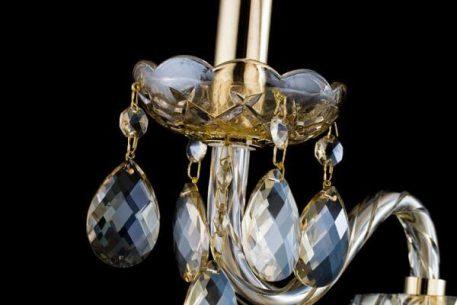 Lampa klasyczna - szkło, złoty metal - Maytoni
