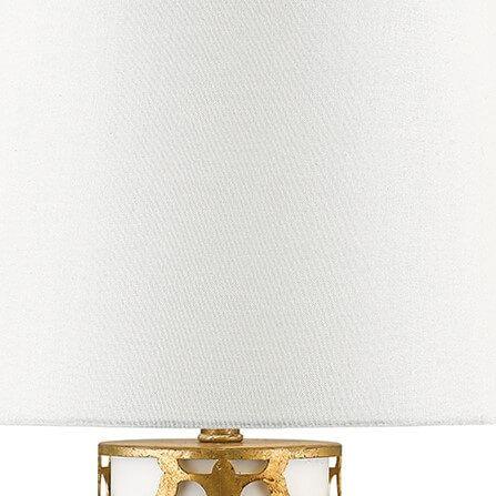 Lampa klasyczna Z abażurem beżowy, biały, złoty  - Salon
