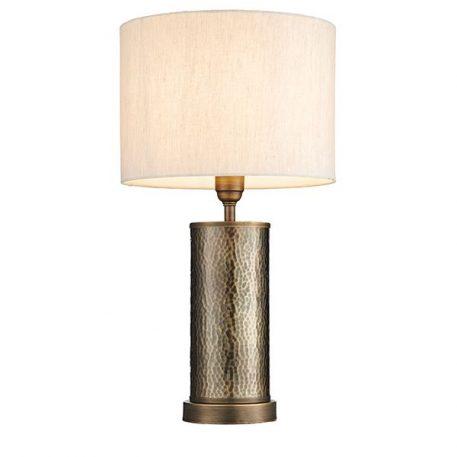 Lampa klasyczna Z abażurem beżowy, brązowy  - Salon