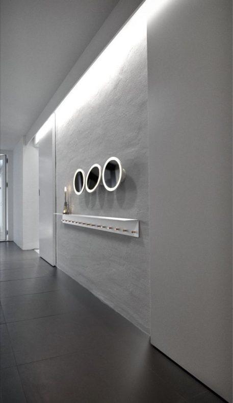 Lampa LED - biały metal, lustro - Nordlux