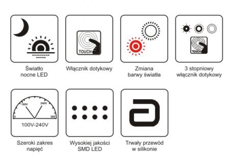 Lampa LED - K-BL-1601 RÓZOWY