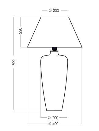Lampa modern classic - barwione szkło, czarny abażur biały w środku - 4concepts