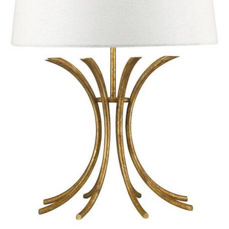 Lampa modern classic klasyczny beżowy, biały, złoty  - Sypialnia