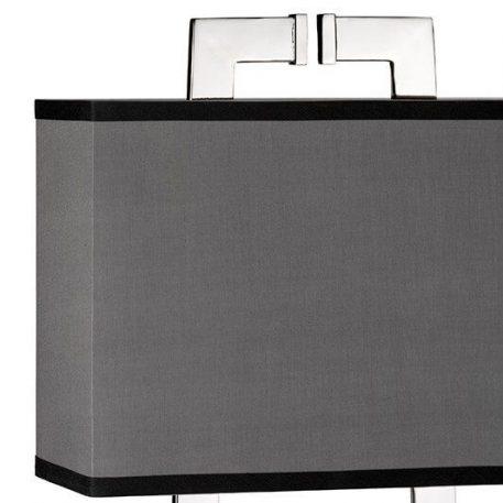Lampa modern classic - polerowany nikiel, szara tkanina - Ardant Decor