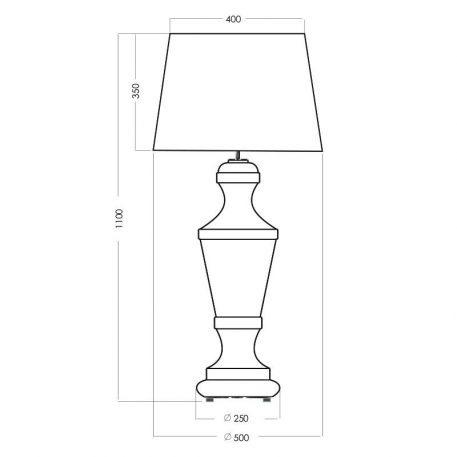 Lampa modern classic Styl glamour srebrny, transparentny, Czarny  - Sypialnia