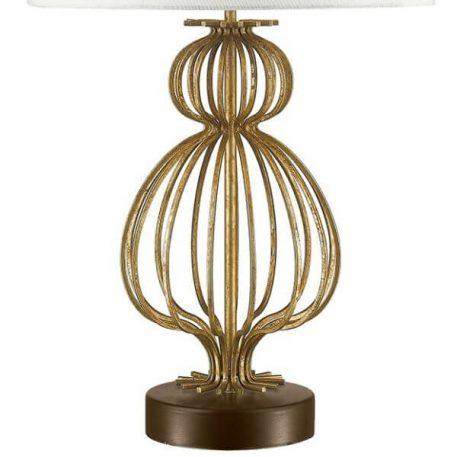 Lampa modern classic Z abażurem beżowy, biały, złoty  - Sypialnia