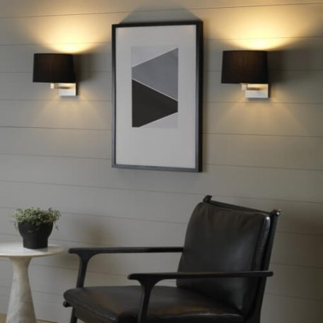 Lampa modern classic Z abażurem brązowy  - Sypialnia