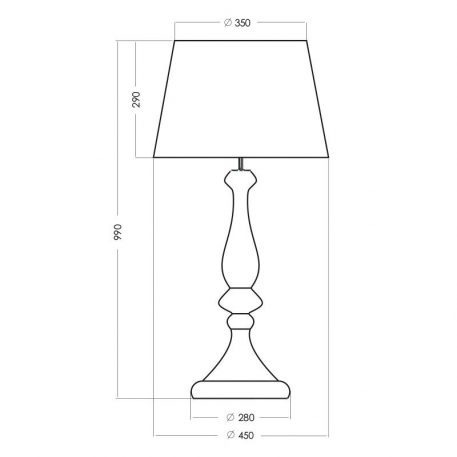 Lampa modern classic Z abażurem transparentny, Czarny  - Salon