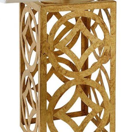 Lampa modern classic - złoty metal, tkanina ivory - Ardant Decor