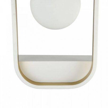 Lampa nowoczesna - biały i złoty metal, mleczne szkło - Maytoni