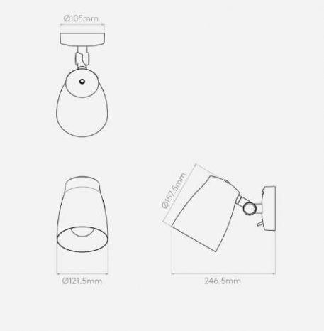 Lampa nowoczesna - biały mat - Astro