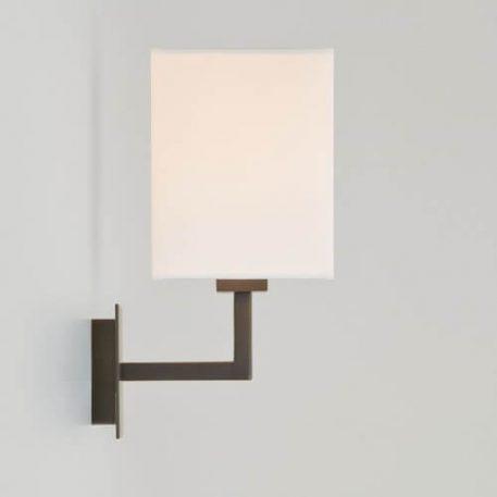 Lampa nowoczesna - brąz, biała tkanina - Astro
