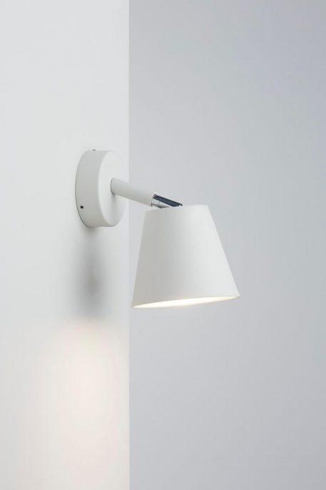 Lampa nowoczesna Do czytania biały  - Sypialnia