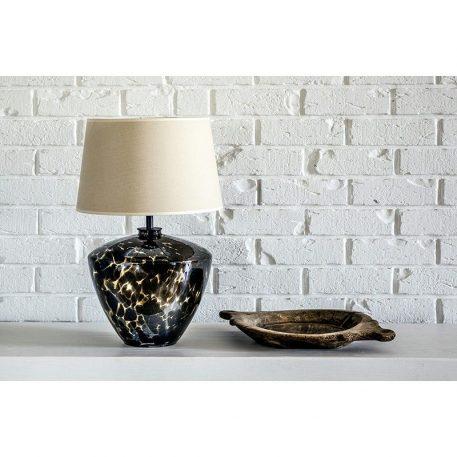 Lampa nowoczesna - dwukolorowe szkło, czarny abażur złoty w środku - 4concepts