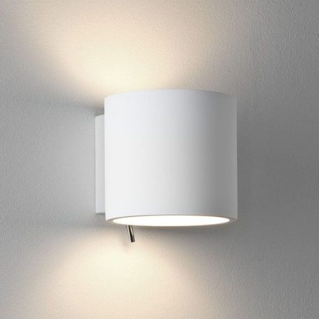 Lampa nowoczesna - Gipsowe - biały -  - Sypialnia