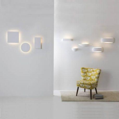 Lampa nowoczesna Gipsowe biały  - Sypialnia