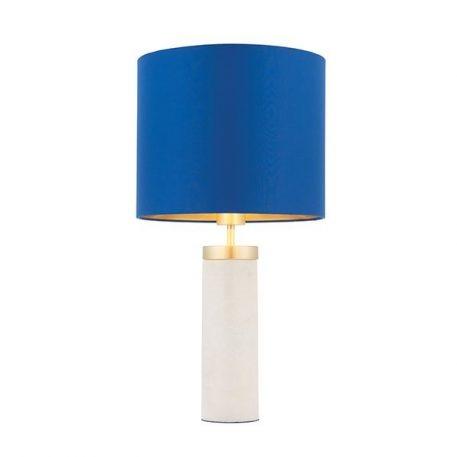 Lampa nowoczesna - marmur, metal w kolorze szczotkowanego mosiądzu - Endon